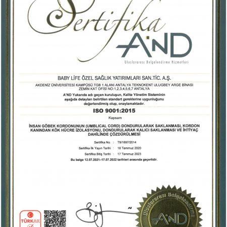 BABY LİFE ISO 9001 SO1-1
